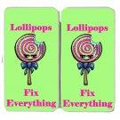Lollipops Fix Everything Food Humor Cartoon - Womens Taiga Hinge Wallet Clutch