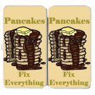 Pancakes Fix Everything Food Humor Cartoon - Womens Taiga Hinge Wallet Clutch