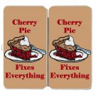 Cherry Pie Fixes Everything Food Humor - Womens Taiga Hinge Wallet Clutch