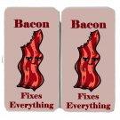 Bacon Fixes Everything Food Humor Cartoon - Womens Taiga Hinge Wallet Clutch