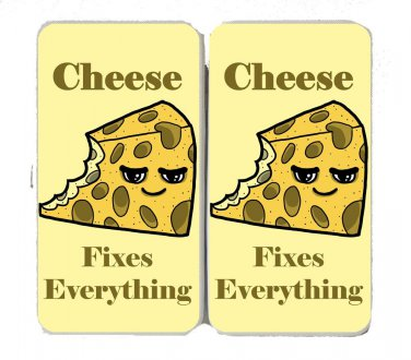 Cheese Fixes Everything Food Humor - Womens Taiga Hinge Wallet Clutch