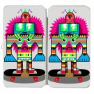 Punk Skate Totem Skateboarding Colorful Art - Womens Taiga Hinge Wallet Clutch