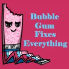 Bubblegum Fixes Everything Food Humor Cartoon - Rectangle Refrigerator Magnet