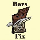 Candy Bars Fix Everything Food Humor Cartoon - Rectangle Refrigerator Magnet