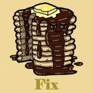 Pancakes Fix Everything Food Humor Cartoon - Rectangle Refrigerator Magnet