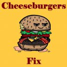 Bacon Cheeseburgers Fix Everything Food Humor - Rectangle Refrigerator Magnet