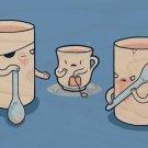 """Muggers"" Thug Mug Steals Teacup's Purse - Plywood Wood Print Poster Wall Art"