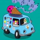Ice Cream Truck Funny Ice Cream Cone Singing - Rectangle Refrigerator Magnet