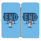 """The End Is Near"" Doomsday Man Funny Word - Womens Taiga Hinge Wallet Clutch"
