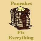 Pancakes Fix Everything Food Humor Cartoon - Vinyl Sticker