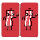 """I'm Delicious"" Bacon Slice Eating Itself Fun - Womens Taiga Hinge Wallet Clutch"