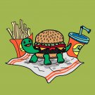 Turtle Burger Funny Turtle Shell Bun Burger w/ Fries Meal - Vinyl Sticker