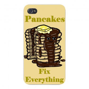 Pancakes Fix Everything Food Humor - FITS iPhone 5 5s Plastic Snap On Case