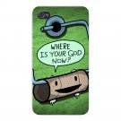 Toilet Paper God Funny Empty Roll Humor - FITS iPhone 4 4s Plastic Snap On Case