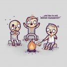 """""""Zombie Tales"""" Campfire Stories While Roasting Brain Over Fire - Vinyl Sticker"""