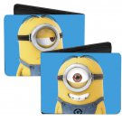 Despicable Me - Cute Funny One-Eyed Minion Posing on Blue