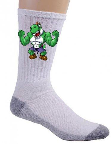 "Video Game Parody ""The Plungers"" Comic Super Hero Character 3 - Crew Socks Pair"