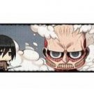 Attack on Titan Seatbelt Belt - Miniature Main Characters w/ Logo Repeating