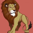 """Lion"" Big Cat Animal King of the Jungle Posing - Rectangle Refrigerator Magnet"