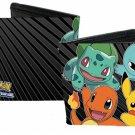 Pokemon Monsters Pikachu, Bulbasaur, Charmander, Squirtle Stripes Bi-Fold Wallet