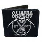 Sons of Anarchy SOA TV Show - SAMCRO Skull Anarchy Guns & Sickles Bi-Fold Wallet