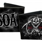 "Sons of Anarchy TV Show - ""SOA"" Skull Anarchy Smoke Bi-Fold Wallet"