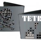 TETRIS Bi-Fold Wallet - Classic Video Game Gray w/ Skull & Crossbones