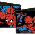Marvel Comics Bi-Fold Wallet - The Amazing Spiderman Action Poses on Black
