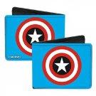 Marvel Comics Bi-Fold Wallet - Captain America Super Hero Star Shield Logo