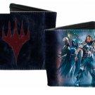 Magic The Gathering Bi-Fold Wallet - Logo w/ Mystical Fantasy Warrior Group