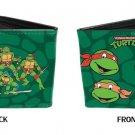 TMNT Teenage Mutant Ninja Turtles Heads Fighting Stance Bi-Fold Wallet