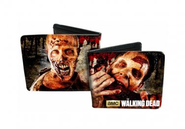 Walking Dead TV Show - Closeup Zombie Heads/Faces Eating Flesh Bi-Fold Wallet