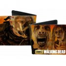 Walking Dead TV Show - Closeup Zombie Heads/Faces & Man Gas Mask Bi-Fold Wallet