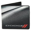 Dodge Auto Car Red Rhombus Carbon Fiber Design Bi-Fold Wallet
