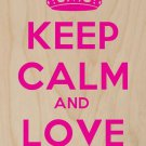 Keep Calm & Love Justin - Plywood Wood Print Poster Wall Art