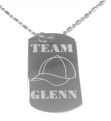 Military Dog Tag Metal Chain Necklace - Team Glenn Baseball Hat Zombie TV Show