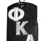 Military Dog Tag Metal Chain Necklace - Sorority House Greek Omega Kappa Alpha