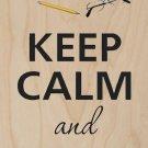 Keep Calm & Read On Newspaper - Plywood Wood Print Poster Wall Art