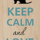 Keep Calm and Love Dogs w/ Crown - Plywood Wood Print Poster Wall Art