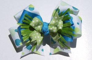Boutique Baby Bow ~Blues and Greens~