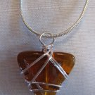 Topaz Wired Pendant Necklace