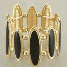 Gold & Black Oval Link Bracelet