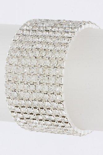 9 Row Rhinestone Stretch Bracelet