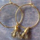 Champagne Crystal Gold Hoop Earrings