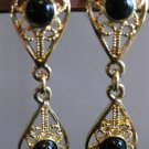 Double Teardrops - Black and Gold