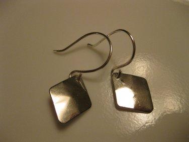 Silver Diamond Charm Earrings