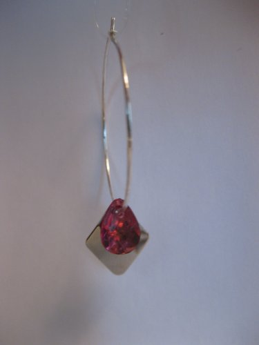 Silver Diamond and Pink Hoops