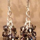 Silver Bunch of Swarovski Crystals and Sterling Silver Earrings