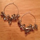 Swarovski Silver and Crystal Clusters on Sterling Silver Hoops