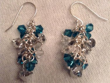 Little Bunches of Swarovski's - Teal/Silver/Crystal